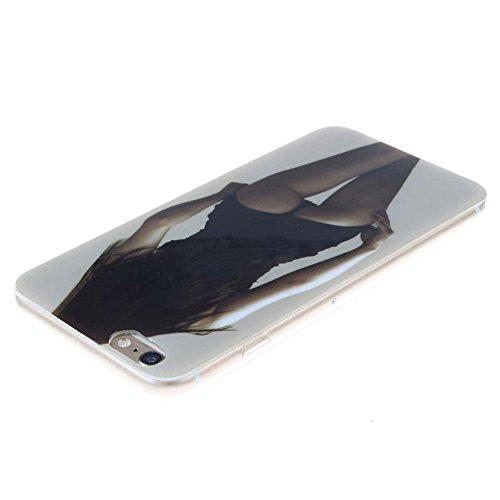 """Coque étui Pour Apple iPhone 6 Plus 6S Plus 5.5"""" Ultra Fine Slim Case Poids léger Flexible TPU Gel Anti Choc Peinture Motif Fille Sexy Couleur-14"""