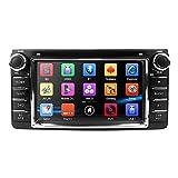 6.2 Inch In Dash Universal Car Stereo Lettore DVD Double Din Supporto radio di navigazione BT/SWC/Telecamera posteriore/Subwoofer per Toyota Camry Corolla RAV4 4Runner Hilux Tundra Celica Auris