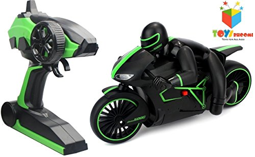 Toys Bhoomi High Speed Rc Motorcycle Bike With Built In Gyroscope&Bright Led Headlights(Green)