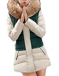 ZANZEA Mujer Chaquta Capucha Piel Bolsillo Abrigo Largo Parka Jacket Outwear Tamaño Grande