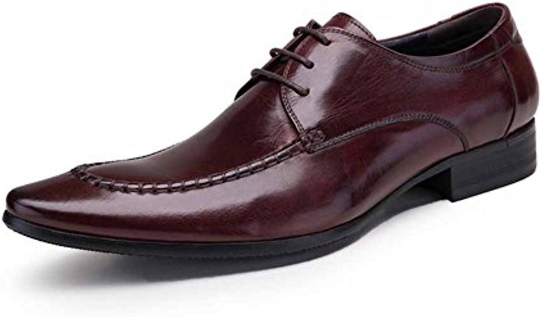 GLSHI Herren Schuhe Classic Englisch Schuhe Business Anzuumlge Large Size Business Schuhe Sohle Leder Business Schuhe