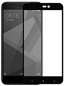 Tidel Full Screen Tempered Glass Screen Protector With CBS Edge To Edge Full Coverage Frame Technology for XiaoMi RedMi 4 [May 2017 Release]( Black )