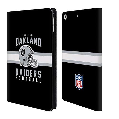 fizielle NFL Helm-Buchdruckerkunst 2018/19 Oakland Raiders Brieftasche Handyhülle aus Leder für iPad Mini 4 ()