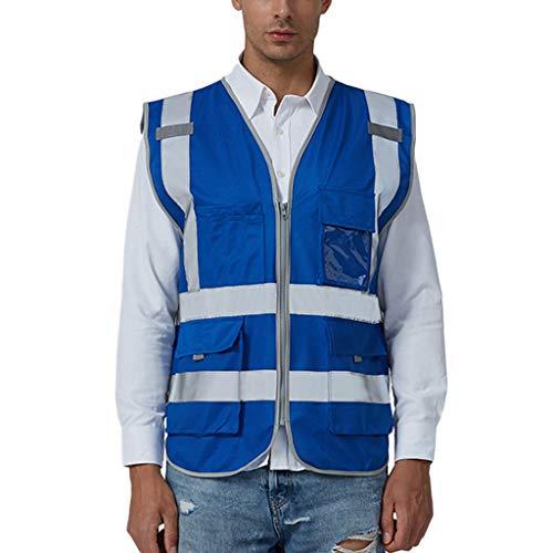 sunnymi  Herren Hosen, Road Work Warnschutz Pullover Langarm Kapuzenpullover Tops Bluse