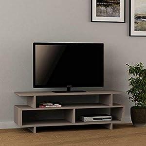 Homemania Porta TV, Mobile TV Destro, Moka Chiaro