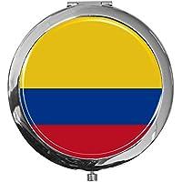 "metALUm - Extragroße Pillendose in runder Form""Flagge Kolumbien"" preisvergleich bei billige-tabletten.eu"