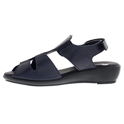Arcopedico Womens Bianca Leather Sandals Marine De Guerre