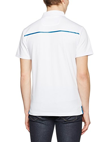 HACKETT LONDON Herren Poloshirt Aston Martin Racing TC Back Tape Weiß (White 800)