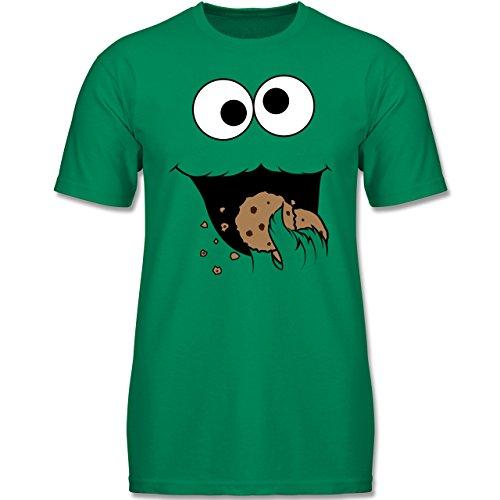 Kinder - Keks-Monster - 140 (9-11 Jahre) - Grün - F140K - Jungen T-Shirt (Kind Cookie Kostüme)