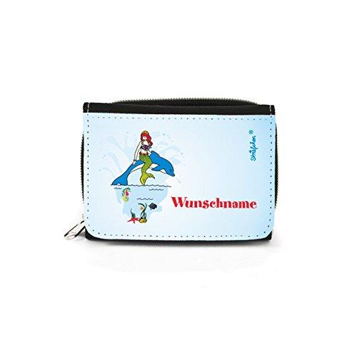 Striefchen® Meerjungfrau Geldbörse für Mädchen mit Namen mit (Geldbörse Kleine Meerjungfrau)