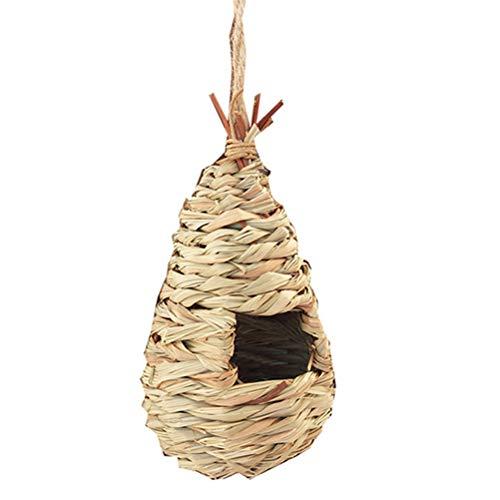 GZQ Nisttasche aus künstlichem Stroh mit Nistkasten