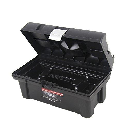Kunststoff Werkzeugkoffer STUFF Semi Profi Alu 16″, 41x22cm Kasten Werzeugkiste Sortimentskasten Werkzeugkasten Anglerkoffer - 6