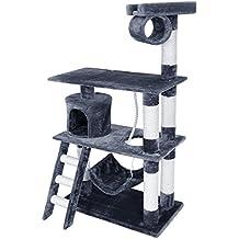 Songmics Rascador para Gatos Árbol para Gatos Gris 140 cm PCT63G