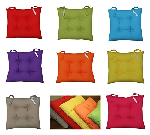 Seat Cushions For Kitchen Chairs | New Colourful Seat Pad Dining Room Garden Kitchen Chair Cushions
