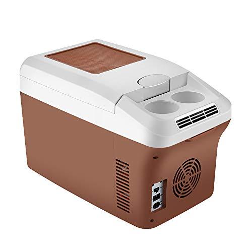 Lxyfc auto mini frigorifero 15l - frigorifero compatto e silenzioso con maniglia - refrigerazione mononucleare - auto doppio uso caldo e freddo 220 v ca / 12v dc