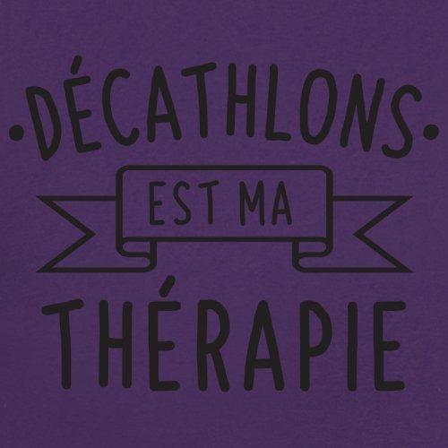 décathlons est ma thérapie - Femme T-Shirt - 14 couleur Violet