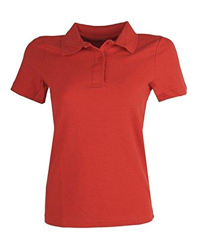 HKM Damen Poloshirt Stedman Bluse rot