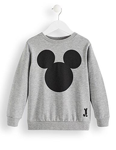 RED WAGON Disney Mickey Mouse Jungen Sweatshirt, Grau (Grey Marl 001), 152 (Herstellergröße: 12 Jahre)