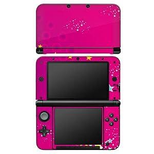 DeinDesign Nintendo 3 DS XL Case Skin Sticker aus Vinyl-Folie Aufkleber Pink Sterne Himmel