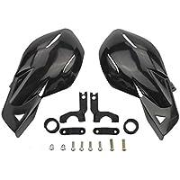 GOOFIT Paramanos Moto, 22mm Protector Manillar Motocross Aluminio Universal para Pit Bike Off-Road Scooter ATV Quad Pocket Bike Ciclomotor Negro