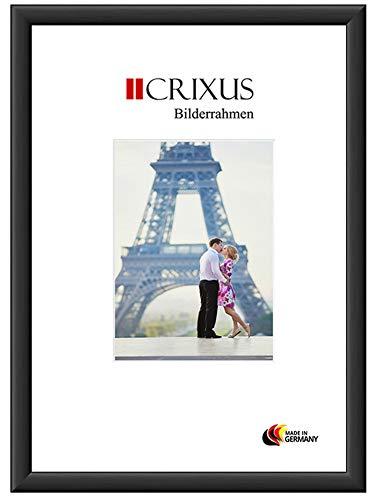 CRIXUS Crixus38M Bilderrahmen für 32 x 45 cm Bilder, Farbe: Schwarz-Matt, Holzrahmen MDF mit Acryl-Glas, Rahmen Breite: 38mm, Aussenmaß: 37,6 x 50,6 cm