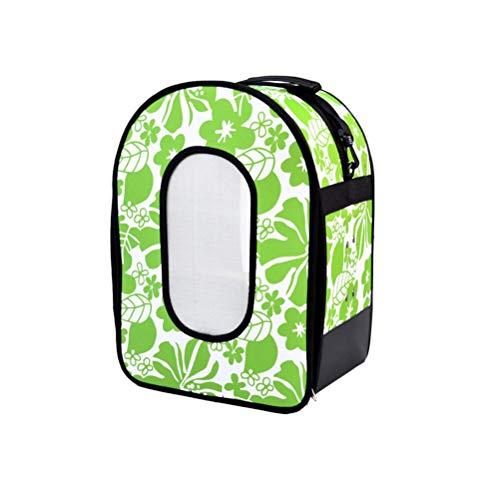 POPETPOP Vogel Tasche Transportbehälter für Vögel Reisen Käfig mit Sitzstange Haustier Reisetasche (Grün, L)
