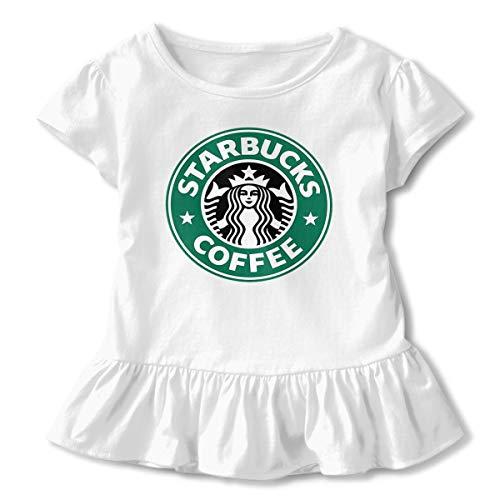 Kinder Baby Mädchen Sommer T-Shirt Starbucks Logo T Shirt Casual Tee Shirts Für Kleinkind Mädchen Kurzhülse Kleidung Weiß 3 T Cotton Duck Vest