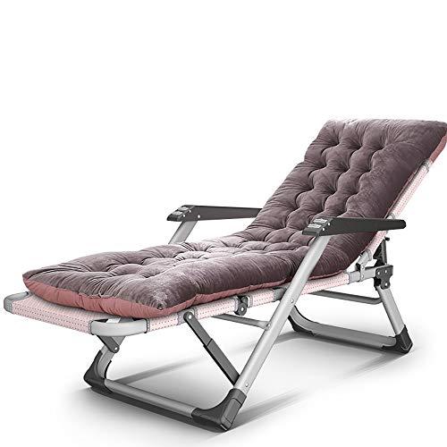 JB-deckchair Indoor Outdoor Liege Klapp Büro Mittagspause Nickerchen Einzelner Stuhl Gartenterrasse Deck Camping Strand Sonnenliege, Last 250kg (Farbe : B) - Outdoor Klapp-liegen