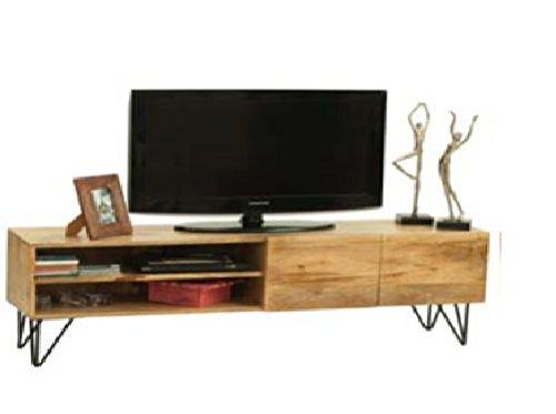 Mueble Televisor mesa TV Vintage industrial madera