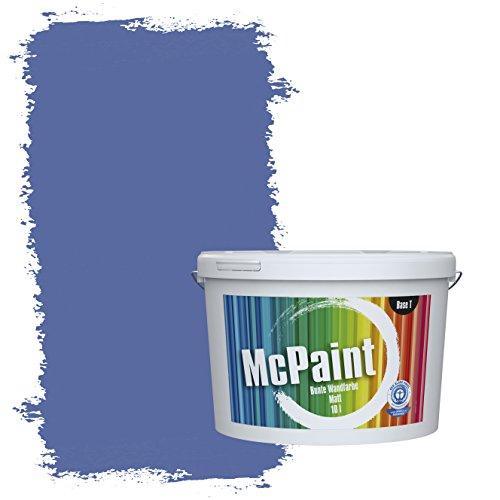 McPaint Bunte Wandfarbe Kornblume - 2,5 Liter - Weitere Blaue Farbtöne Erhältlich - Weitere Größen Verfügbar