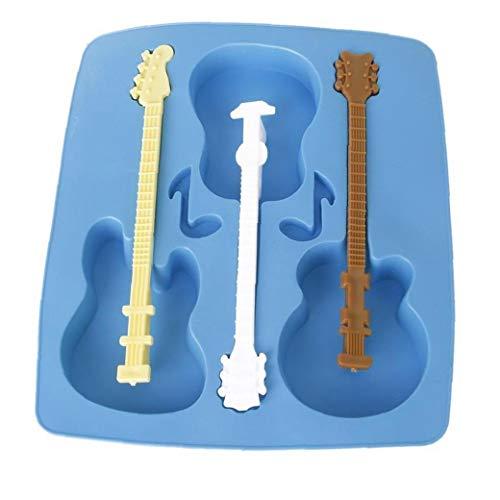 Kuchen-Form-Akustikgitarre Schokolade-Form-Hersteller-Kuchen-Eis-Behälter-Gelee-Party-Freeze-Silikon-Back