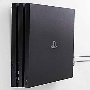 Wandhalterung für PlayStation 4 Pro von FLOATING GRIP® – Zum Patent angemeldet durch FLOATING GRIP ApS – Made in Dänemark