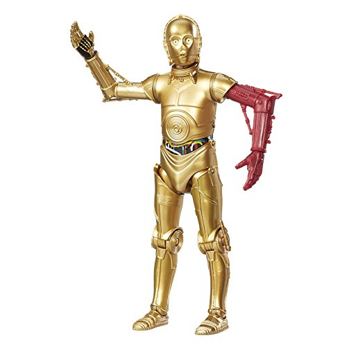 Hasbro Star Wars B9802EL20E7 The Black Series 6 Zoll Figur: C-3PO (Widerstands-Basis), Actionfigur - Bein Gold-basis