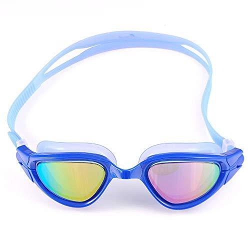 YYSWIM Tauch Schwimmbrille, Professionelle Schwimmbrille Anti-Fog und Anti-UV für Erwachsene Männer und Frauen die eine Schutzbrille mit Schutzhülle Schwimmen blau