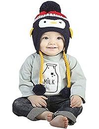 TBS Animal de cálido para bebé de punto gorros de forro polar