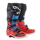 Alpinestars - Tech 7- Bottes de Moto, Taille 46,5 -Rouge/Gris/Noir