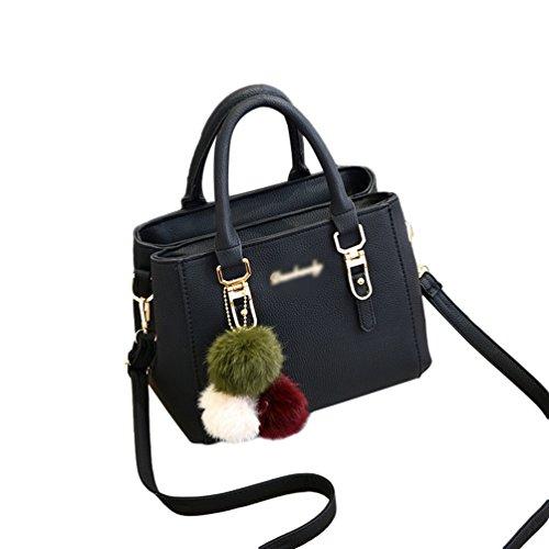 d14fb84d48056 Baymate Mode Handtaschen Henkeltaschen Elegante Umhängetasche für Damen  Schultertasche Crossbody Tasche Schwarz. Obermaterial  PU-Leder ...