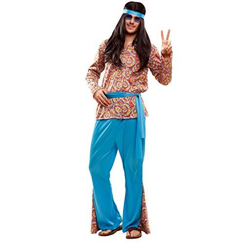 My Other Me Me-201990 Disfraz de hippie psicodélico para hombre, Multicolor, M-L (Viving Costumes 201990