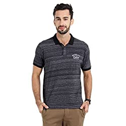 Proline Mens Polo With Denim Look (Black-M)