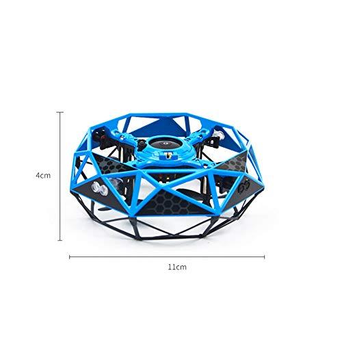 ZHEL Kinder fliegen Spielzeug Drohne, Smart Touch Mini-Fernbedienung Flugzeug Lade Flug Spielzeug LED-Anzeige,Orange