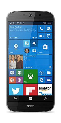 Acer Liquid Jade Primo LTE Windows 10 Phone (14 cm 5,5 Zoll AMOLED, 1920 x 1080 Full HD Pixel, Hexa-Core-Prozessor, 3GB RAM, 32GB Speicher, Windows 10 Mobile inkl. Microsoft Continuum ) schwarz inkl. Docking Station