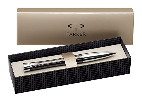 parker-urban-chrome-trim-ballpoint-pen-with-medium-nib-premium-ebony-gift-boxed
