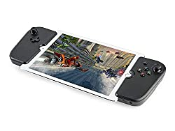 "GAMEVICE - GV160 Dual Analog Lightning Controller für iPad Pro/Air 10.5"" I mit Pad & Trigger I patentierte Technologie I Joystick I Kopfhörer-& Lightning-Anschluss I Gaming Zubehör für iPads - Schwarz"