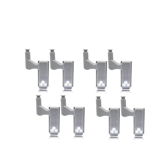 Amicikart 8 Pcs Wardrobe Cabinet Hinge Led Light ( No Wiring Required ) (8Pcs Led Light) With Battery