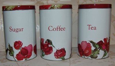 red-and-white-metal-tea-coffee-and-sugar-cannisters-with-red-sweet-pea-rose-design-kitchen-tin-stora