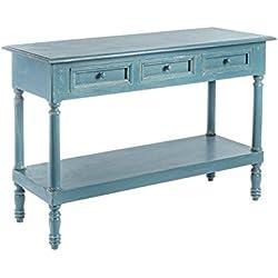 Consola madera mango azul , colección alejandria