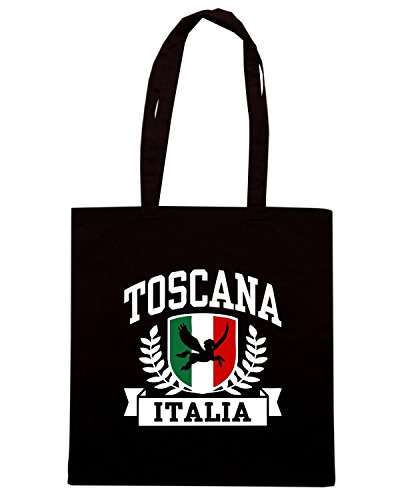T-Shirtshock - Borsa Shopping TSTEM0211 toscana italia logo Nero