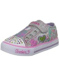 Skechers Shuffles Brite Wing Lighted - Zapatillas de niñas con cierre de velcro