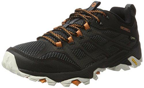 Merrell Moab FST GTX, Chaussures de Randonnée Basses Homme, Noir (Black/Orange), 43