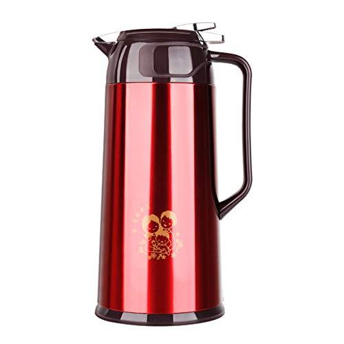 Ultra Time Empty Thermoskannen Edelstahl Isolationstopf 1.9L Große Kapazität Wärmflasche 24-Stunden-Langzeitisolierung Vakuum Thermos Kaffee, Tee, Getränke Usw. (Farbe : B)